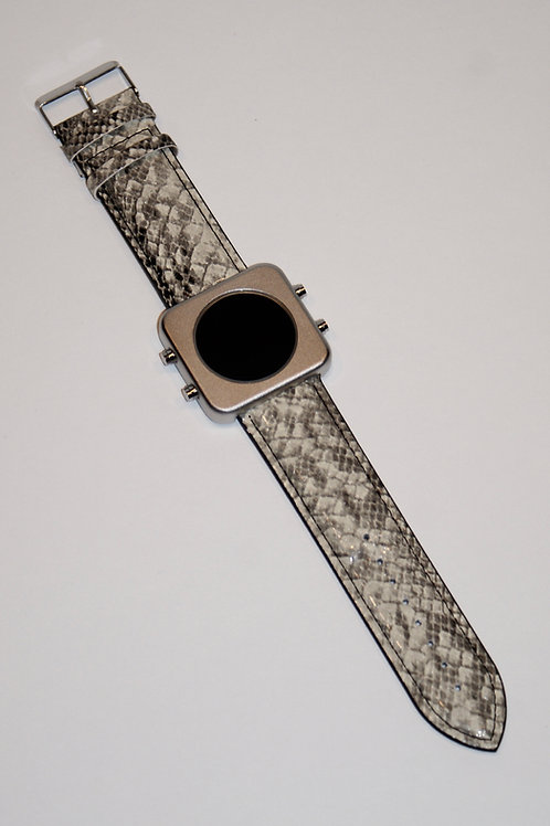 New CIRCA silver mat/Grey snake -Boîtier argent mat/Serpent (REF:CS/GS)