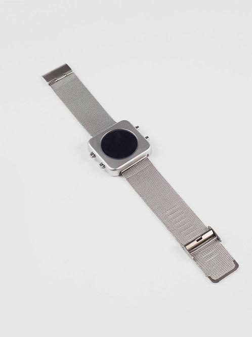 New CIRCA silver mat case/milanese mesh-boîtier mat/bracelet maille (REF:CCR/MH)