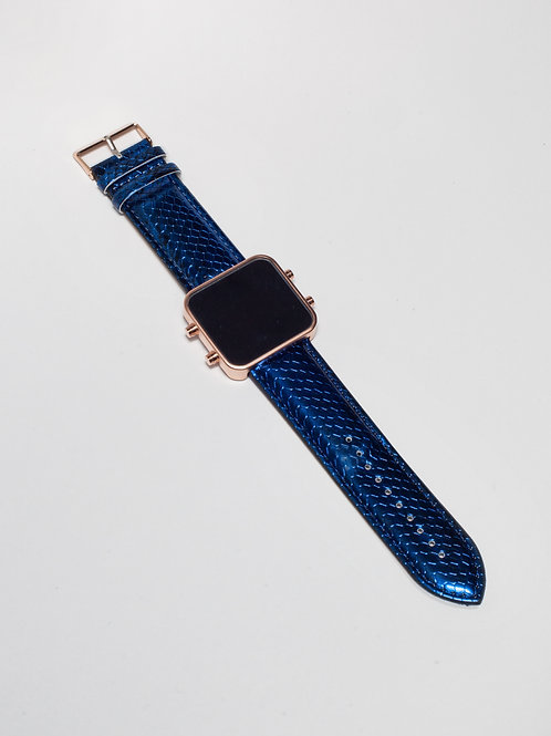 Blue Snake/Serpent Bleu - Mat Rose Gold (Ref:RG/BSN)