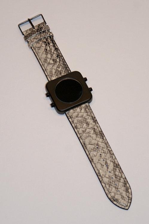 New CIRCA black mat/Grey snake -Boîtier noir mat/Serpent gris (REF:CB/GS)