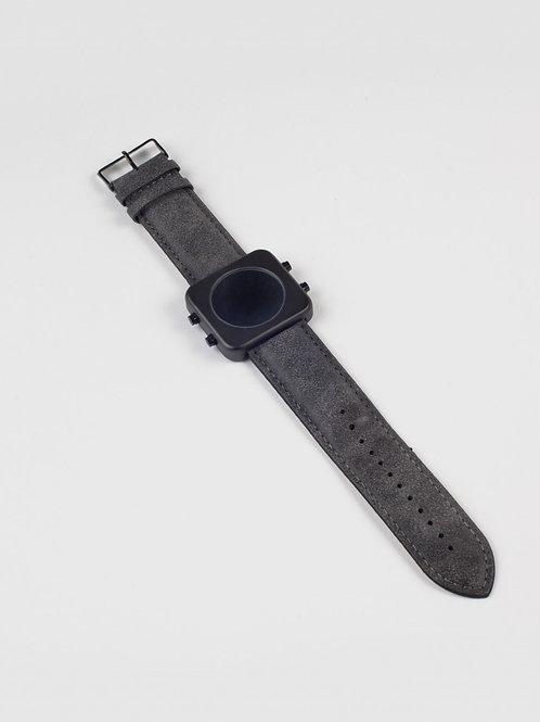 New CIRCA black mat/vintage grey/Boîtier noir mat/Cuir vintage gris(REF:C/VB)