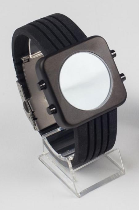 New Circa black racing strap-boîtier noir mat bracelet racing(REF:CRB/R)