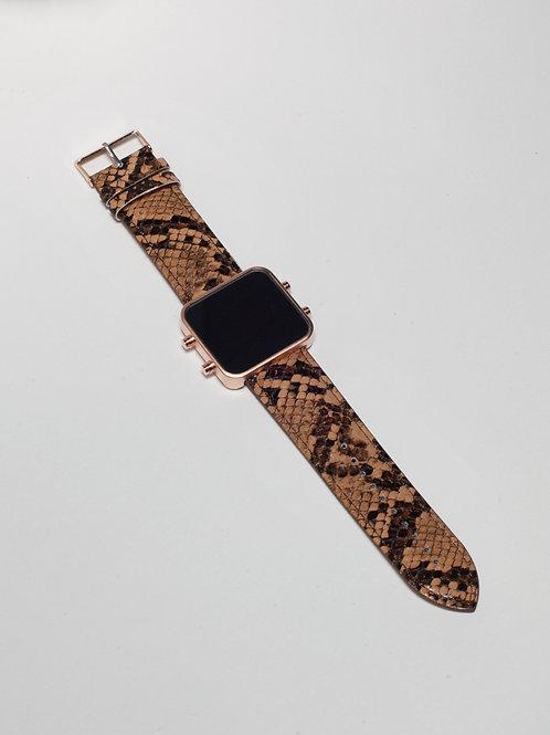 Brown Snake/Serpent Brun - Mat Rose Gold (Ref:RG/BSN)