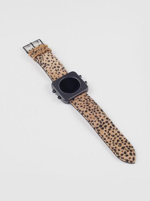 New Circa black mat case/Cheetah brown-boîtier noir mat/Guépard (REF:CB/CHB)