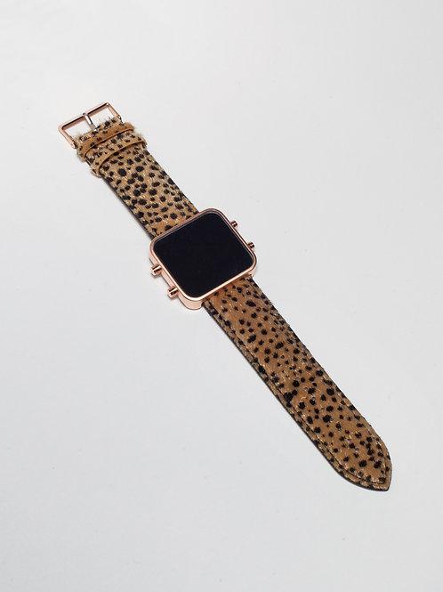 Brown Cheetah/Guépard Brun - Mat Rose Gold (Ref:RG/BRCH)