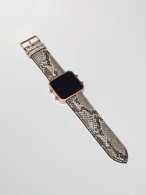 Grey Snake/ Serpent Gris - Mat Rose Gold (Ref:RG/GSN)