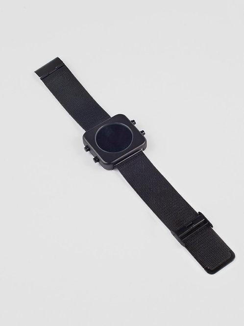 New Circa black mat case/black mesh-Boîtier noir mat/maille noire (REF:CBL/B)