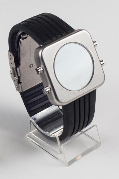 New Circa silver mat racing strap-boîtier argent mat bracelet racing (REF:CS/R)