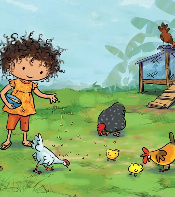 Elenita The Chicken Whisperer.