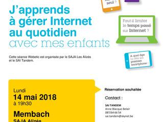 14 MAI 2018: Séance d'information - J'apprends à gérer Internet avec mes enfants