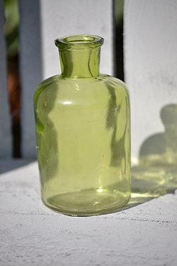 vase bouteille verte