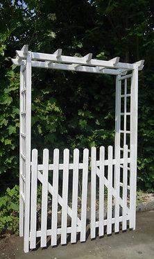 Arche en bois avec portail