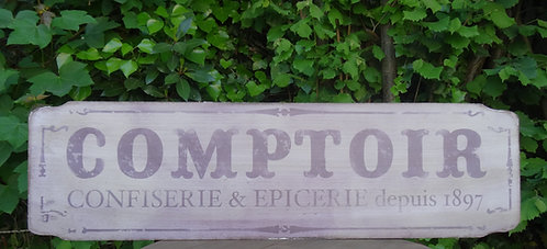 "Panneau en bois ""Comptoir"""