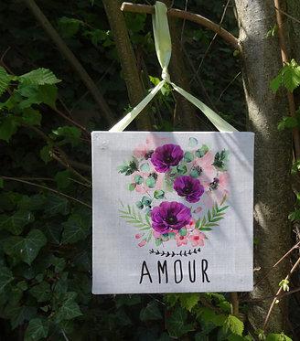 """Tableau à suspendre """"amour"""""""