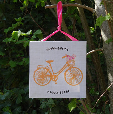 """Tableau à suspendre """"à bicyclette"""""""