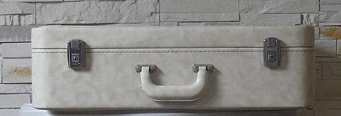 Valise vintage blanche
