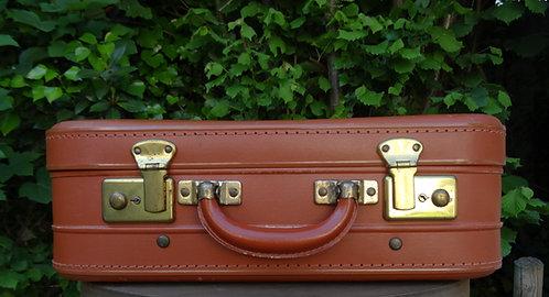 Petite valise vintage camel