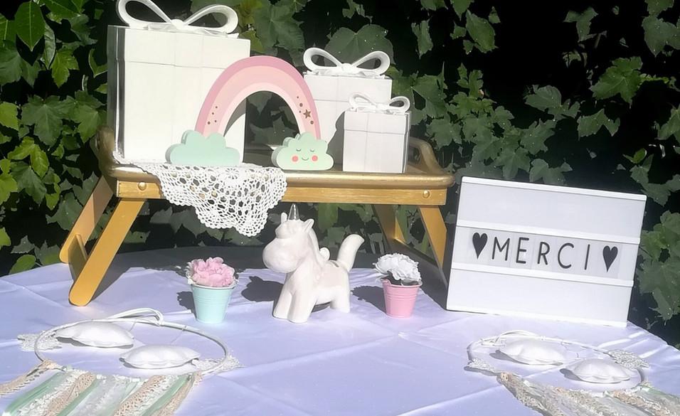 Table à cadeaux