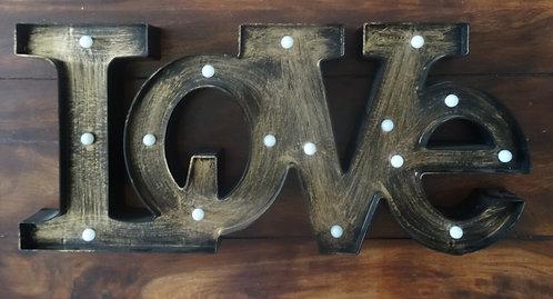 "Enseigne lumineuse ""love"""