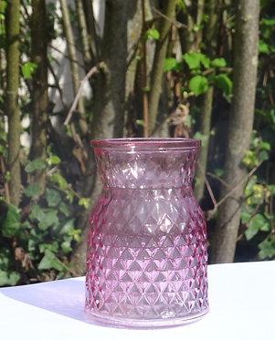 """Vase""""cristal rose"""""""