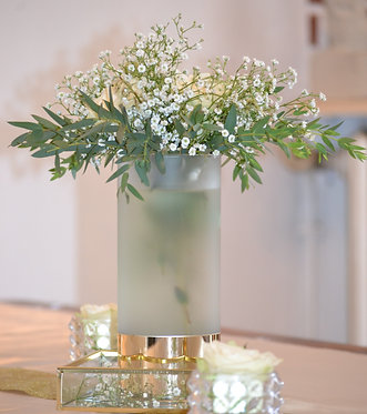 Vase cylindrique doré