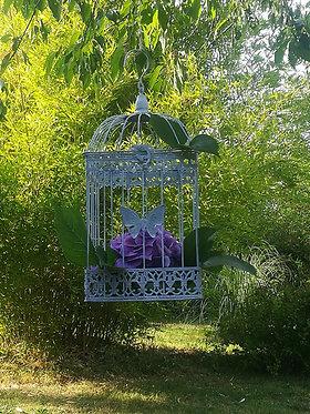 """Cage décorative """"papillons"""""""