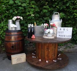 bar à vin rustique