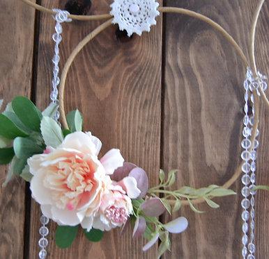 Suspension florale rose