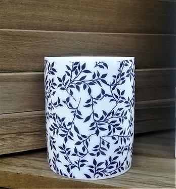 Petit vase feuillage bleu