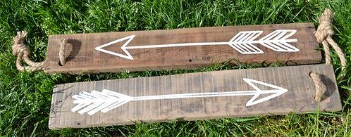 Flèches en bois esprit bohème