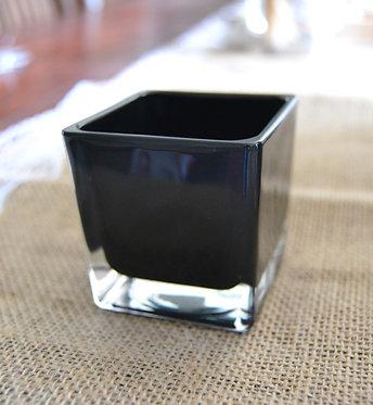 Photophore carré noir