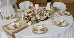 table vintage chic rose/beige
