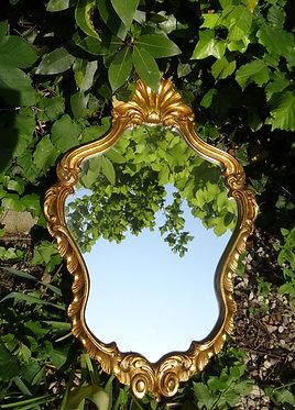 Grand miroir baroque doré