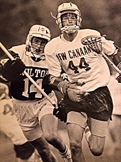 Andy Towers in the late 80s playing for New Canaan High School
