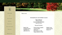 Woodway's public directions page