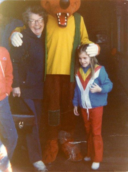 Nanny, Brer Fox and me in Disney World in the 70s