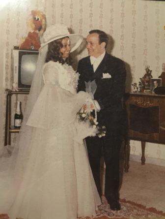 Nancy and Joe Colella married on April 18, 1971. Contributed