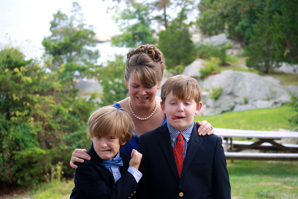 My boys and me at my sister's wedding