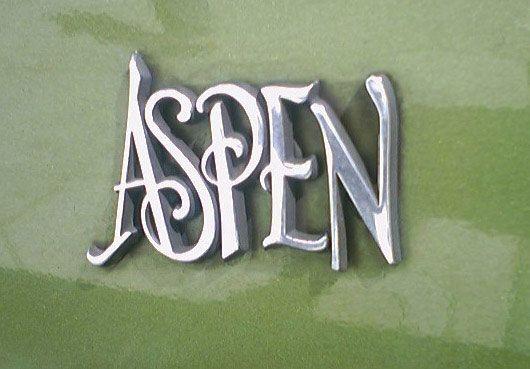 The Aspen logo courtesy of www.cartype.com