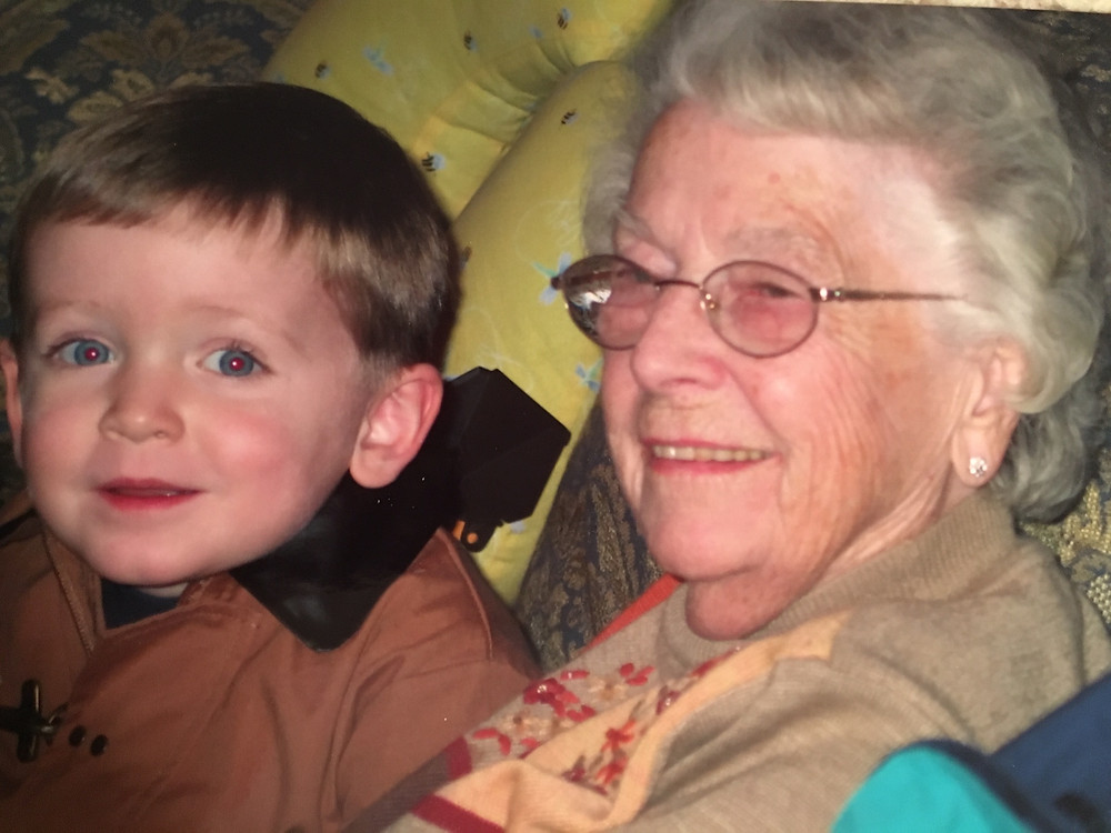 Nanny and Aidan, one of her many great grandchildren
