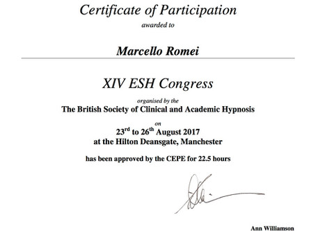 XIV ESH CONGRESS – MANCHESTER UK – 23 / 26 August 2017