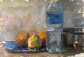Still life with Bottle of Water