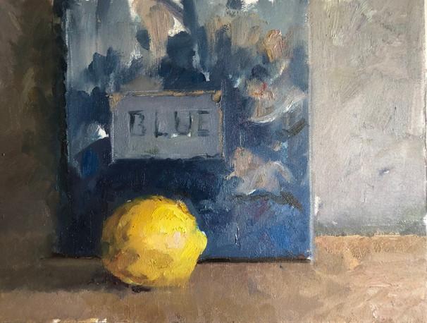 "Still life with ""Blue"""