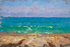 Sea on the Rocks Study. August