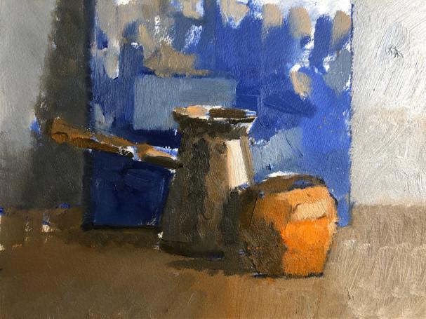 Still life with a coffee jar