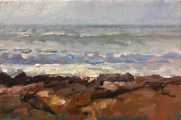 Sea on the Rocks Study