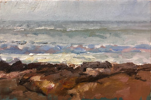 Sea on the Rocks Study