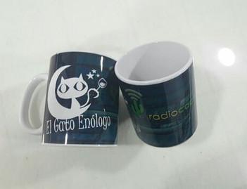 Tazas del programa de radio El Gato Enólogo