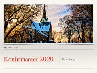 Referat fra informasjonsmøte for konfirmanter 2020