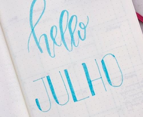 Planejando o mês de julho